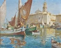 bateaux de pêche dans le port de saint tropez by merio ameglio