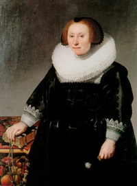portrait of a lady with a ruff collar by herman mijnerts doncker
