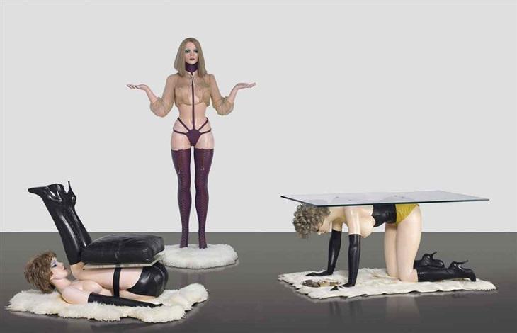 hatstand table and chair i hatstand ii table iii chair 3 works by allen jones