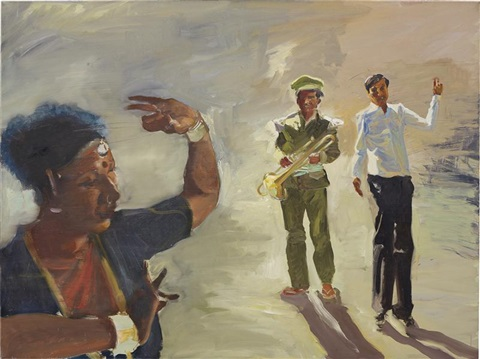 the cattle auction (a study) by eric fischl