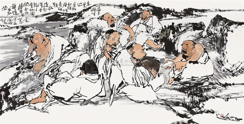 孟浩然诗意图 by chen dong