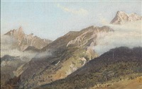 mountain view of the pyrenees by simon ludvig ditlev simonsen