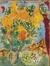 bouquet jaune et orange by marc chagall