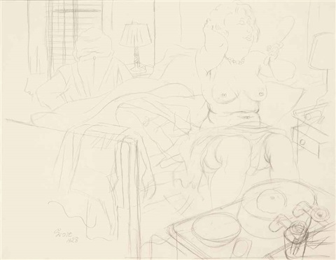 die toilette by george grosz