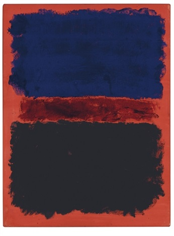 blue red black on red by mark rothko