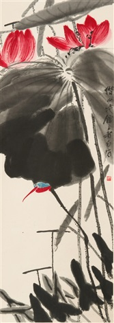 lotus by qi baishi