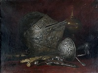 nature morte aux armes anciennes by antoine vollon