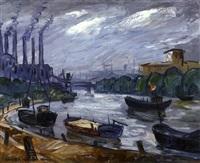 les remorqueurs sur la seine by nandor vagh-weinmann