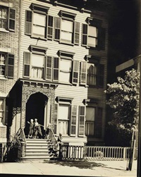 willow street, no. 113, brooklyn, 1936 by berenice abbott