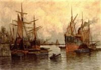 les vaisseaux au mouillage by jules vernier