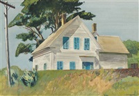 railroad embankment by edward hopper