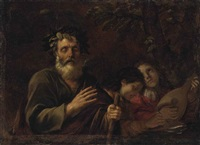 homer preaching to two of his disciples by pier francesco mola
