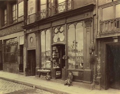 3 quai de bourbon boutique louis xvi by eugène atget