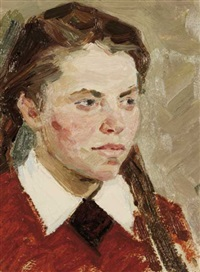 portrait of the artist's sister by ivan aristov