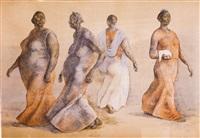 mujeres caminando by francisco zúñiga