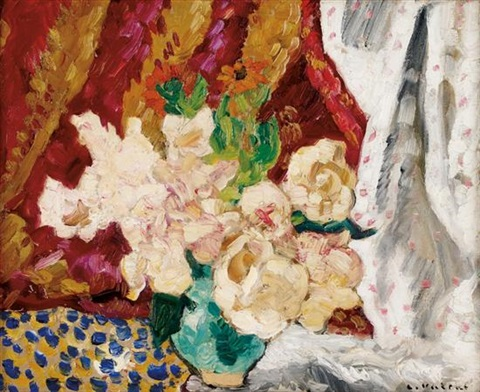 still life with flowers by louis valtat