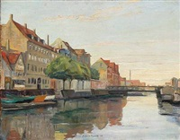 canal scape from christianshavn by johan rohde
