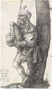 the bagpiper by albrecht dürer