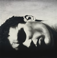 untitled (reclining head) by robert longo