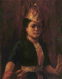 portrait of a batak girl by max fleischer