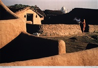 village near the taj by raghu rai