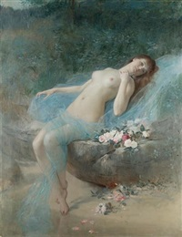 reclining nude by vlacho bukovac