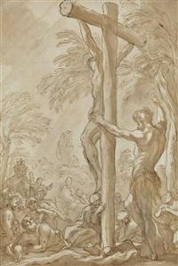 la crucifixion d'un saint missionnaire by domenico piola