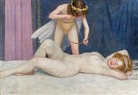 schlafende venus mit amor by friedrich könig