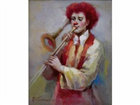 le clown au trombone by jean-baptiste fournier