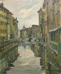 le pont morens, annecy by henri andrepetit