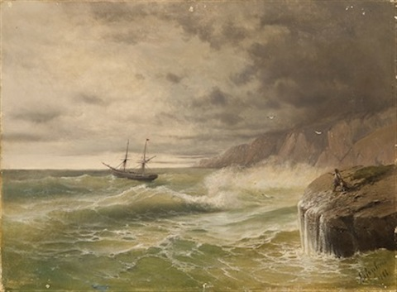 fırtınada gemi by ivan konstantinovich aivazovsky
