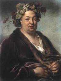 portrait d'homme en bacchus by joseph vivien
