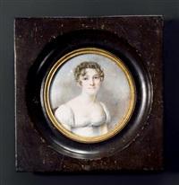 portrait de mademoiselle louise sacé, née du pasquier, assise, vers la droite by henriette rath