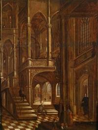 interieur einer gotischen kirche by hendrick aerts