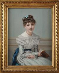 portrait de melle a. robin by jules emile saintin