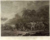the death of captain cook (from bk by f. bartalozzi and w.w. byrne) by john webber