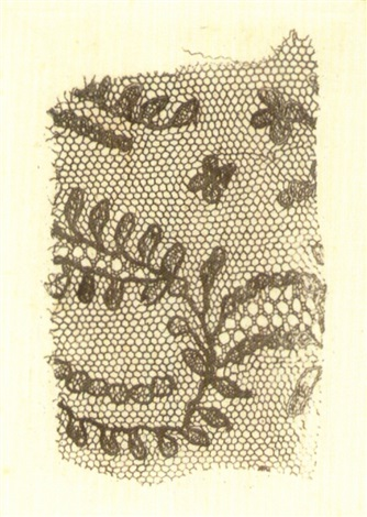 fragment of lace by william henry fox talbot
