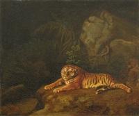 tigre au repos by george stubbs