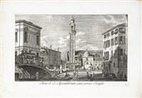urbis venetiarum prospectus celebriories ex antonii canal (10 works) by antonio visentini