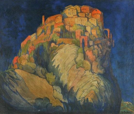 hillside landscape by gennaro favai