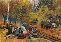hunting in olyka by stanislaw polian wolski