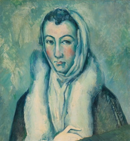 la femme à lhermine after le greco by paul cézanne