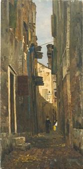 ein italienisches gässchen (a lane in italy) by tina blau-lang