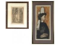 portraits of women (2 works) by etienne ret