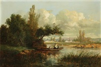 les barques by emile charles lambinet