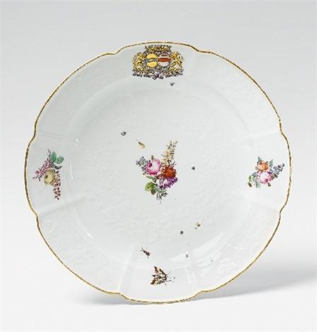 a meissen plate from the pâris de montmartel béthune service