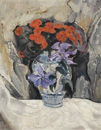 a still life with flowers by dirk filarski