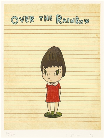 over the rainbow by yoshitomo nara