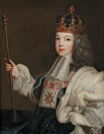 portrait de louis xv enfant by pierre gobert