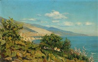 landscape from menton by christian peder mørch zacho